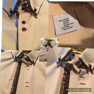 Brio Milano Stretch Collection Men's Dress Shirt